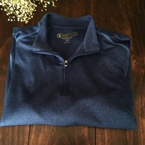 Pebble Beach Performance Pullover Blue/Navy